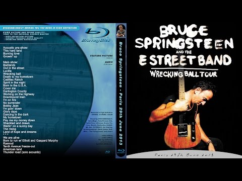 Bruce Springsteen - Paris 29.6.2013 FULL SHOW incl. pre-show MULTICAM