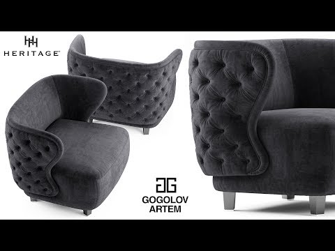 "№52. Chair Modeling "" Heritage ANNABELLE "" в 3d Max."