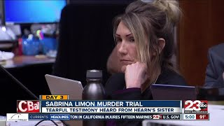 Day 3 of the Sabrina Limon murder trial: Jonathan Hearn's family testifies