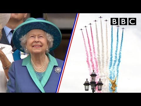 Watch the entire spectacular 100-aircraft flypass as RAF celebrates 100 years - BBC