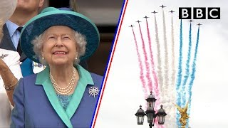 Watch the entire spectacular 100-aircraft flypast as RAF celebrates 100 years - BBC