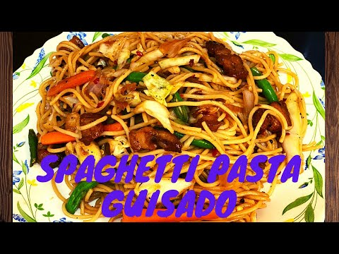 HOW TO MAKE PANCIT GUISADO USING SPAGHETTI PASTA NOODLES | INDAY MARREAH