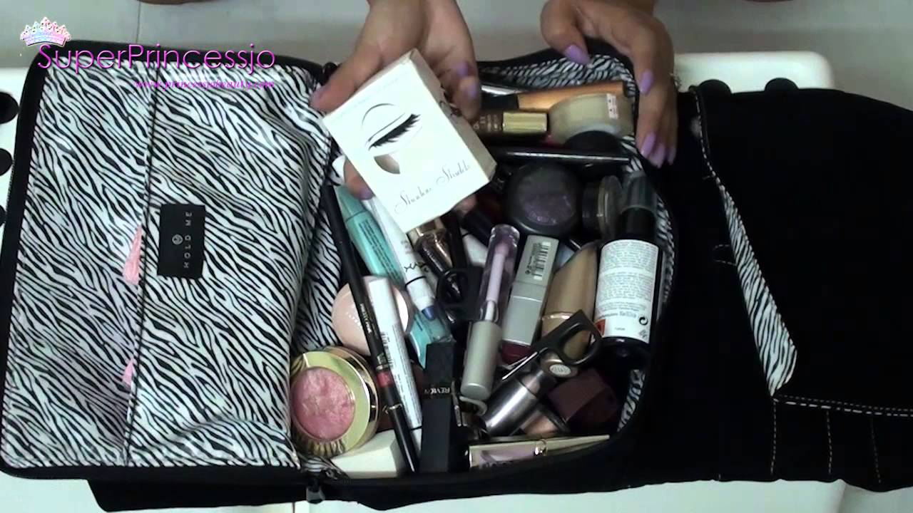 How To Pack Makeup For Travel Superprincessjo Youtube