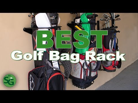 What's The Best Golf Bag Rack? Koova Golf Bag Holder Review | Mr. Short Game