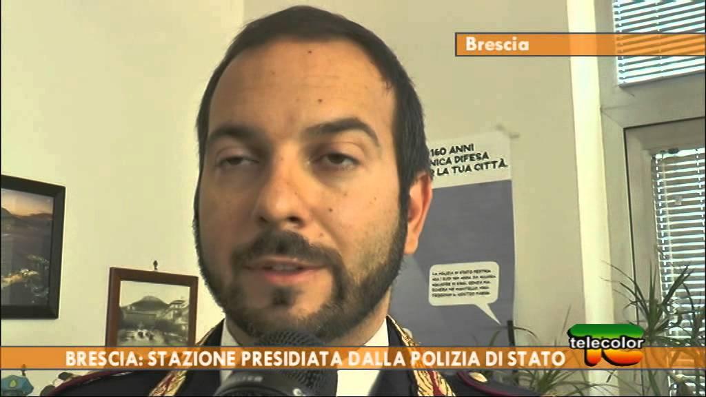 Brescia: stazione presidiata dalla Polizia di Stato - YouTube
