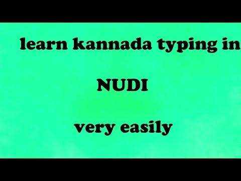 1 learn kannada typing in nudi