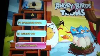 Angry birds toons season 1 volume 2 Blue Ray DVD main menu