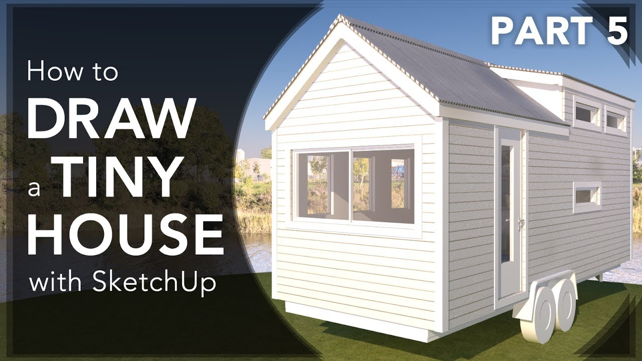 How to draw a gambrel roof in sketchup - How To Draw A Tiny House Roof Alt Pitch With Sketchup In 2017 Video 5