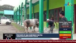Presiden RI dan Gubernur Sultra Sumbang Hewan Kurban di Masjid Al Kautsar