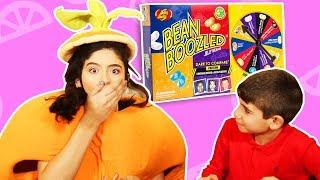فوزي موزي وتوتي   فقرة المندلينا   تحدّي العلكة   Bean Boozled challenge