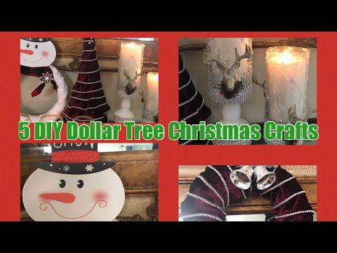5 DIY Dollar Tree Christmas Crafts/Elegant Glam DIY Dollar Tree Home  Using Totally Dazzled 2019