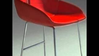 3d Model Fjord Bar Stool High Red