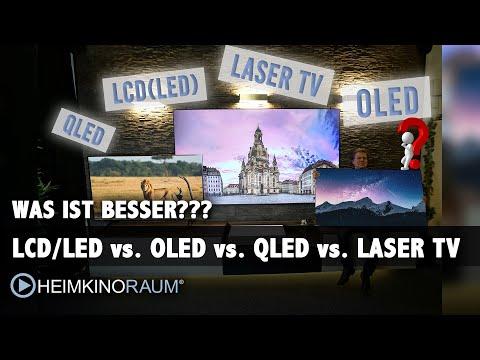 Was ist besser?? LCD TV? OLED TV? QLED TV? LASER TV? Die Zukunft des Fernsehens....