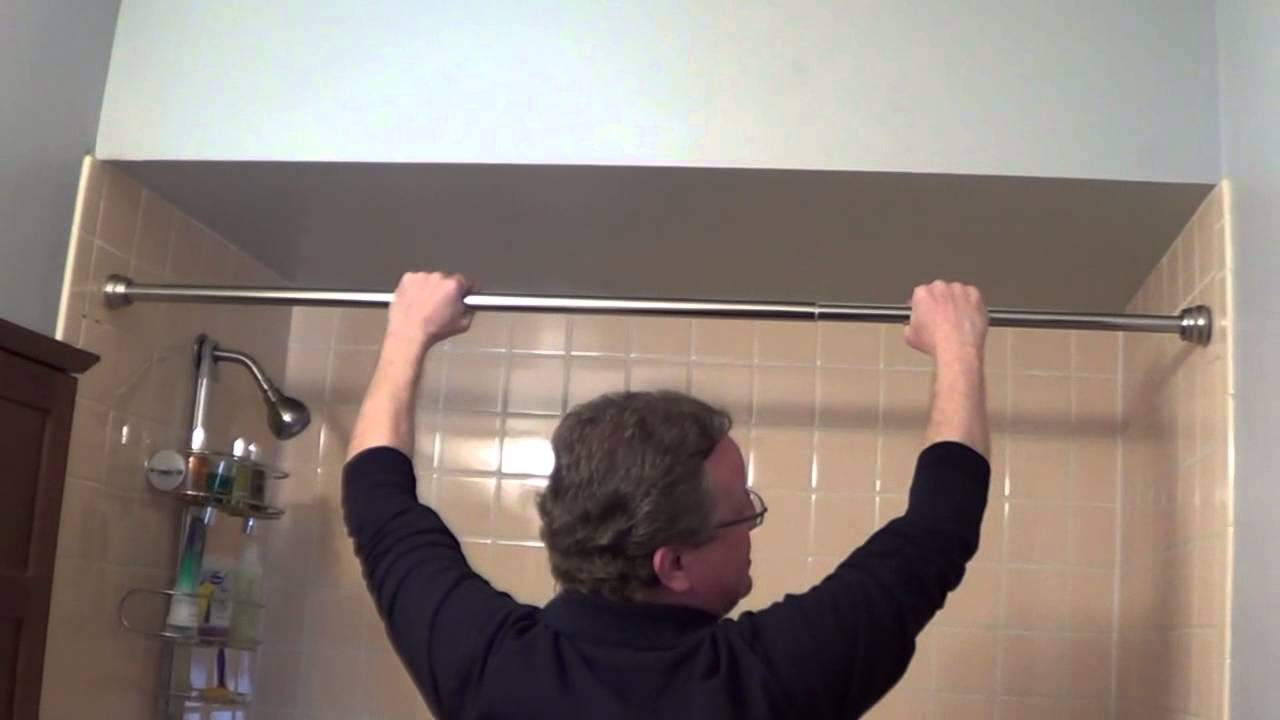 Shower Rod Installation   Tension Shower Rods   YouTube