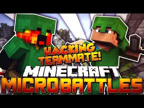 """Minecraft MICRO BATTLES """"HACKING TEAMMATE BUSTED!"""" #46 w/PrestonPlayz"""