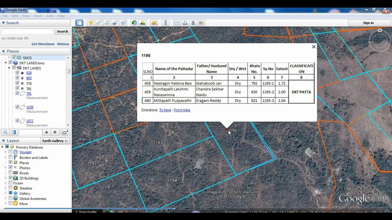 Survey Advancement information with GIS data