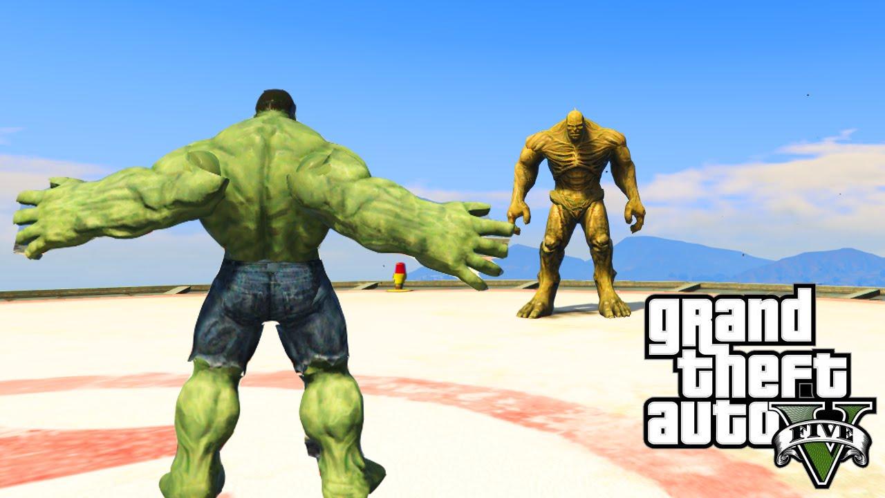 Gta  Pc Mods Incredible Hulk Vs The Abomination Gta  Superhero Showdown Mods  Youtube