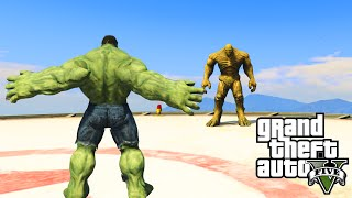 GTA 5 PC Mods - INCREDIBLE HULK VS. THE ABOMINATION! GTA 5 SUPERHERO SHOWDOWN MODS #3