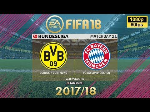 FIFA 18 Dortmund vs Bayern München | Bundesliga 2017/18 | PS4 Full Match