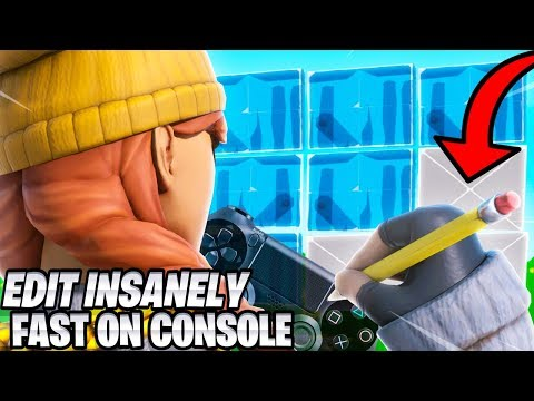 How To Edit WAY FASTER On Console Fortnite! (Fortnite PS4 + Xbox Tips)