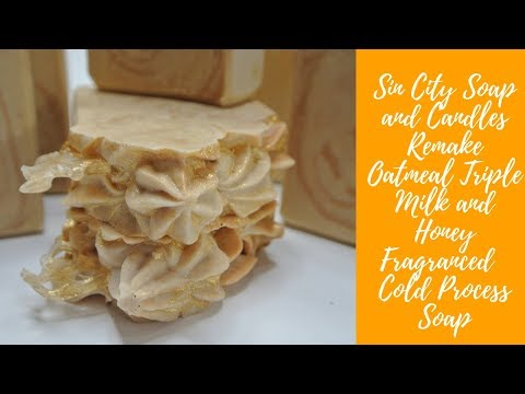 Remake Oatmeal Triple Milk and Honey Fragranced Cold Process Soap FLV