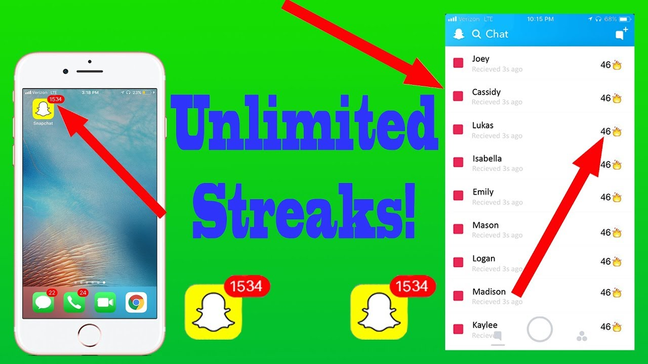 how to hack snapchat iphone new infinite snapchat streaks easy doovi 17166