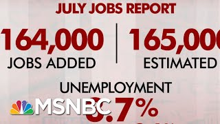 July Jobs Report: 164,000 Jobs Added, Unemployment Stays At 3.7 Percent