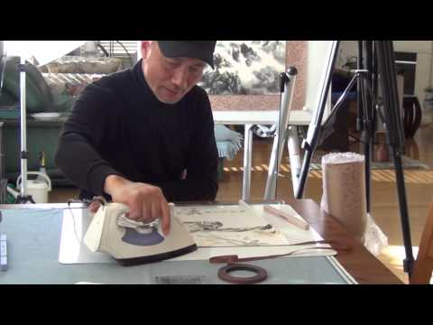 Dry-mount a Sumi-e or Chinese Painting with Iron-on Silk Margins