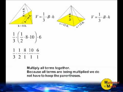 Volume of a triangular and square pyramid youtube volume of a triangular and square pyramid ccuart Choice Image