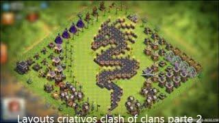 Layouts criativos clash of clans parte 2