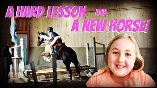a really hard lesson and we found a new horse day 145 052518