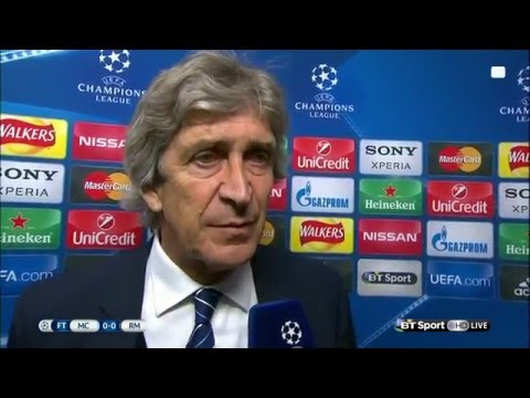Manchester City 0-0 Real Madrid  - Manuel Pellegrini Post Match Interview