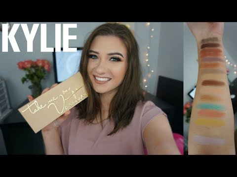 KYLIE COSMETICS TAKE ME ON VACATION PALETTE | Swatches + Tutorial + Review