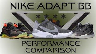Nike Adapt BB vs Curry 6 vs KD12