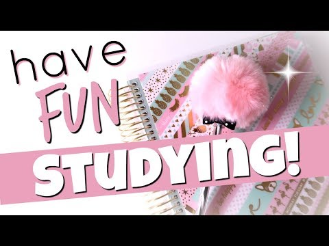STUDYING HACKS 2018 - How To Make Studying FUN! |  Cait B