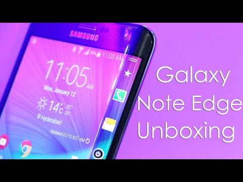 Samsung Galaxy Note Edge Unboxing & Hands On Overview (Indian Retail Unit)