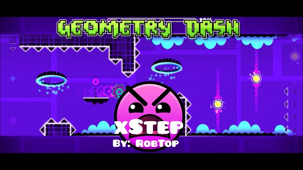 Geometry Dash - xStep by RobTop (Level 10) (60fps)