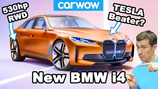 New BMW i4 - it's a 530hp German Tesla Model 3!