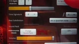 Test de Mobile Metronome pour android