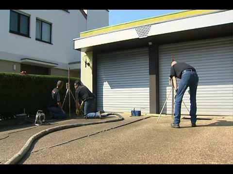 Garageneinfahrt asphalt  URETEK, Hohlraumauffüllung und Anhebung einer Garageneinfahrt ...