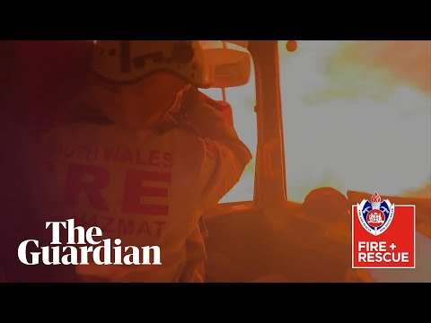 Australian firefighters capture moment their truck is overrun by a bushfire