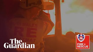 Australian firefighters capture moment their truck is overrun by a bushfire