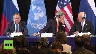 Munich: Lavrov, Kerry and de Mistura speak on Syrian crisis