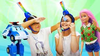 Новые игры - Супер Челлендж Не засмейся! - Видео приколы для детей с игрушками.
