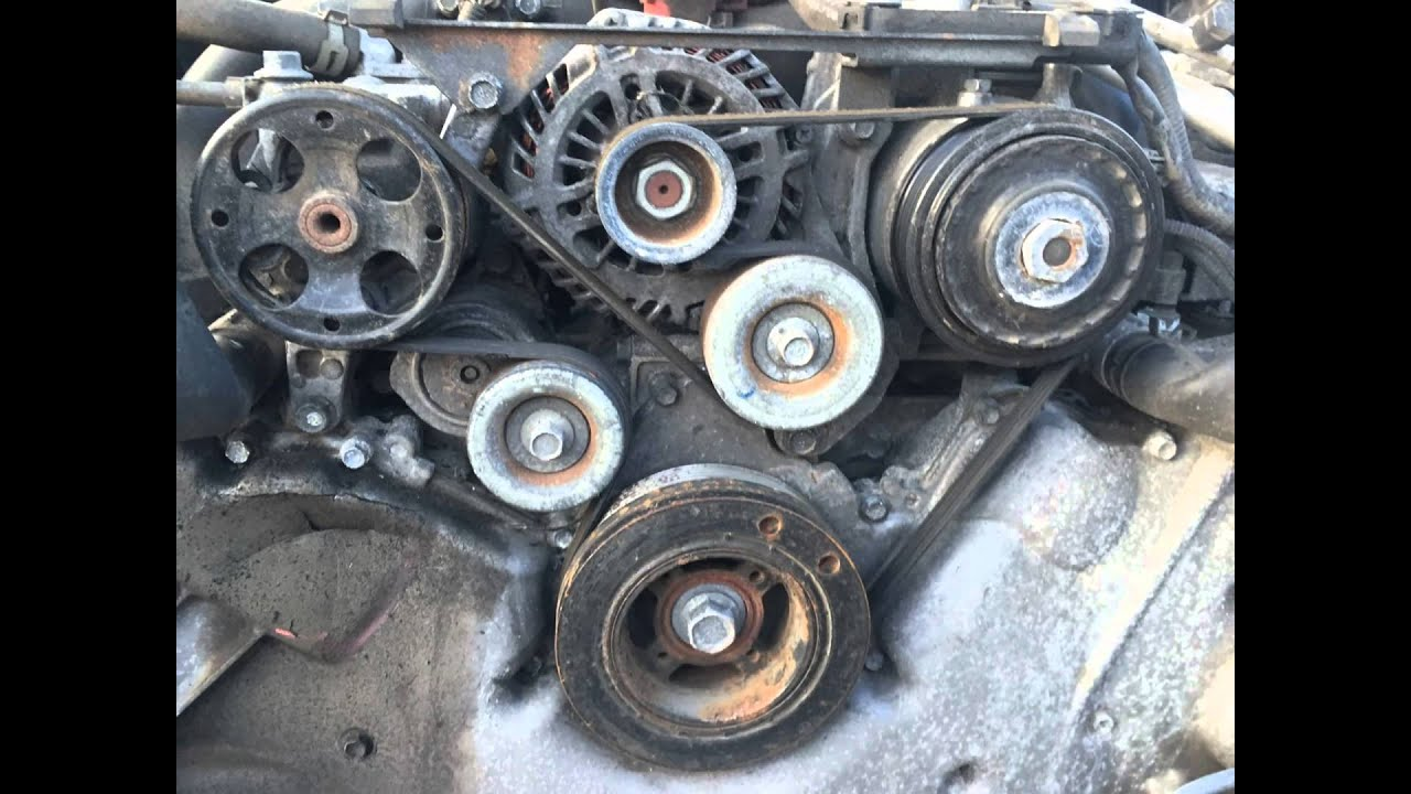 2012 2014 Subaru Outback 3 6R Serpentine Belt Location