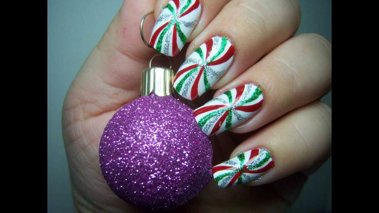 Peppermint Candy Swirls Mirlidnailarts Candy Theme Nail Art Contest