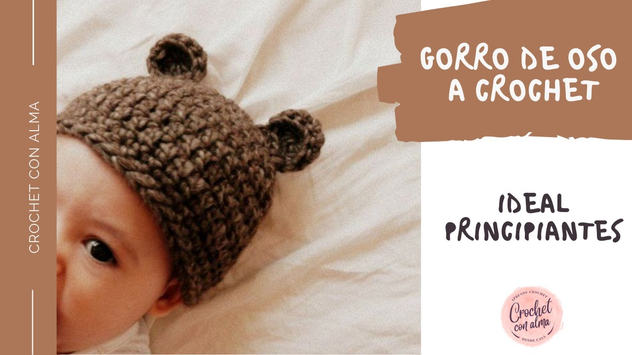 GORRO DE OSITO A CROCHET - YouTube