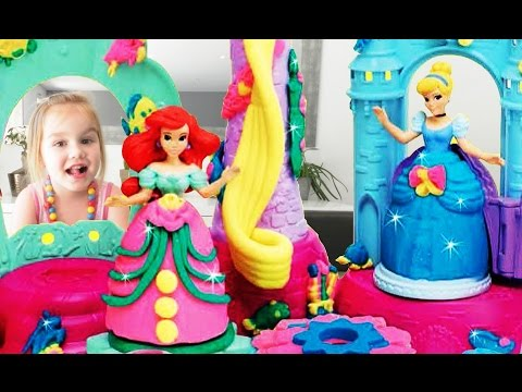 Chateau de crystal des princesses Disney - Royal Palace - Palais Royal Play doh