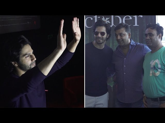 Varun Dhawan hosts special screening of 'October' for his fans