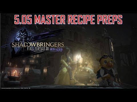 Final Fantasy XIV - Patch 5 05 Master Recipe Preps